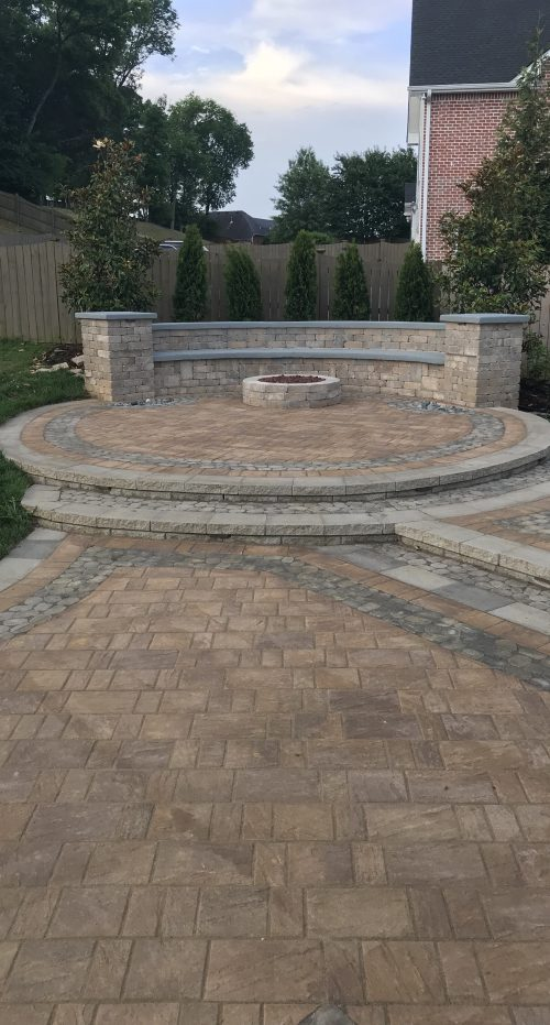 Techo-Bloc Patio with Fire Pit